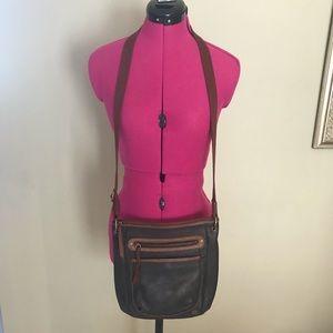 Vintage The Sak Leather Crossbody Bag